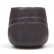 Diogenis, Ceramic Cup with no Handle, Brown/Black
