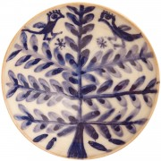 Birds on Flower, Ceramic Serving Bowl, d:17cm (6.69'')