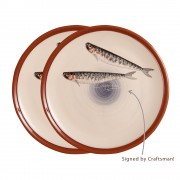 S/2 Decorative Platters, Sardines, d:26.5cm (Medium)