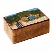 Anna in the garden, Decorative Wooden Box (M)