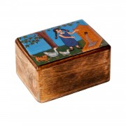 Anna at the fountain, Decorative Wooden Box (S)
