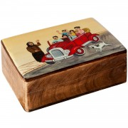 Family Excursion, Decorative Wooden Box (B)