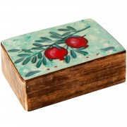 Pomegranate, Decorative Wooden Box (B)