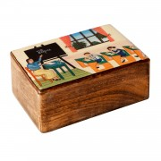 Students in classroom, Decorative Wooden Box (M)