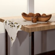 Olives, Dining Table Runner, Off White