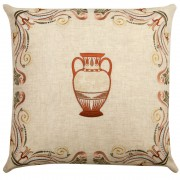 Bohemian Greece, Embroidered Cushion Cover