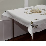Olives, Embroidered Tablecloth, Square 120