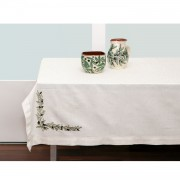 Embroidered Olives Tablecloth, 150x150
