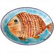 Red Mullet, Fish Serving Platter, d:35.5cm