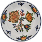 Blooming Flowers II, Decorative Wall Plate, d:17.5cm