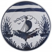 Boat, Decorative Hanging Plate, d:17.5cm