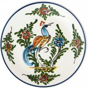 Peacock Ι, Decorative Plate, d:17.5cm