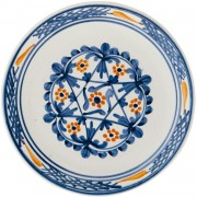 Flower, Blue and White Plate, d:24cm