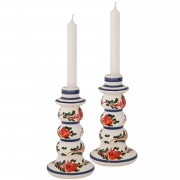 Skyriana Flowers, Taper Candle Holders, S/2