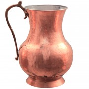 Hammered Copper Water Jug, h.:18cm