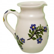 Forget-Me-Not, Hand-Painted Pottery Jug, 3/4 lt