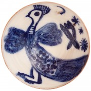 Dotted Bird, Handmade Ceramic Bowl, d:17.5cm (6.89'')