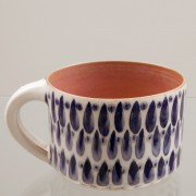 Drops, Handmade Ceramic Mug, Blue & White