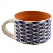 Drops ΙΙ, Handmade Coffee Mug, Blue & White
