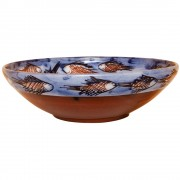 School of Fish, Handmade Pottery Bowl, d:22cm