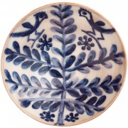 Folk Art Tree & Birds, Handmade Pottery Bowl, d:17cm (d:6.69'')