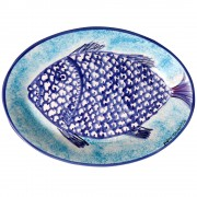 Aegean Fish, Large Serving Platter, d:35.5cm