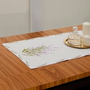 Lavender Table Runner, Embroidered