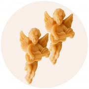 S/2 Angels, Honey Candles, Hanging Ornaments