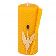 Pillar Beeswax Candle, h:15cm