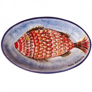 Red Fish, Oval Platter, d:25cm