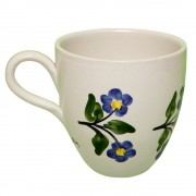 Flower Pottery Mug, Hand Painted Forget-Me-Not