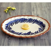 Flower Wreath Serving Platter, Lacy Ending, d:36cm
