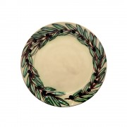 Hand-Engraved Olive Wreath, Tea Plate, d:23cm