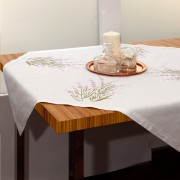 Embroidered Lavender, Spring Tablecloth