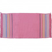 Irregular End Stripes Rug, Blush 50 X 100cm