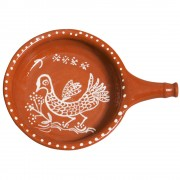 Terracotta Cooking Pan, Hand Painted