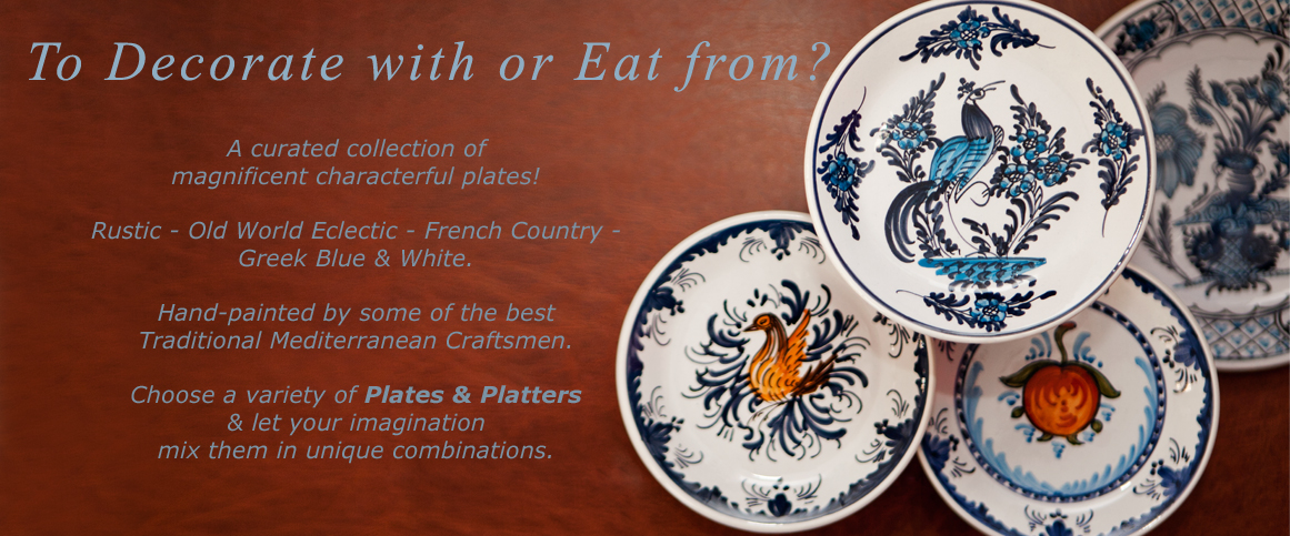 Handmade_Mediterranean_Decorative_Plates_and_Platters